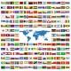 Sticker drapeaux du monde au choix (3 cm sur 2 cm)