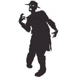 Sticker Zombie mort vivant chapeau