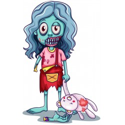 Sticker Zombie monstre enfant fille