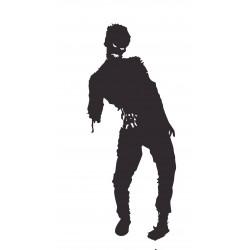 Sticker Zombie mort vivant noir