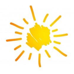 Sticker Soleil jaune