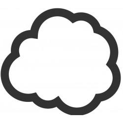Sticker Nuage blanc