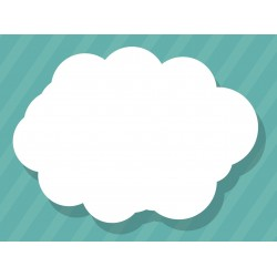 Sticker Nuage blanc