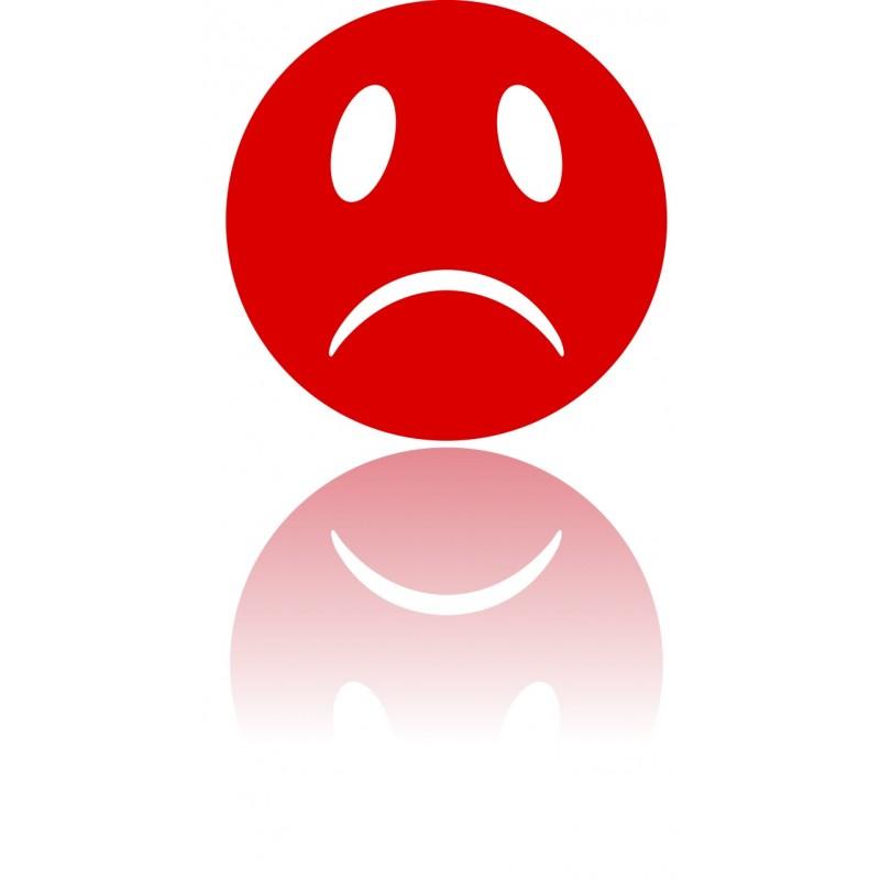Sticker Emoji Smiley Rouge Pas Content Etiquette Amp Autocollant