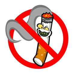 Sticker anti tabac cigarette