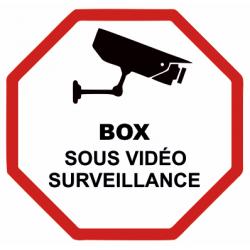 Sticker Box sous vidéo surveillance