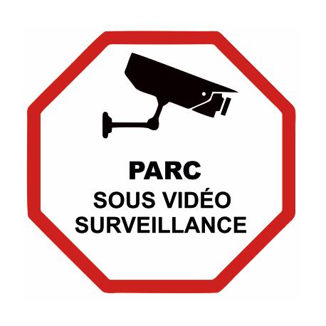 Sticker Parc sous vidéo surveillance