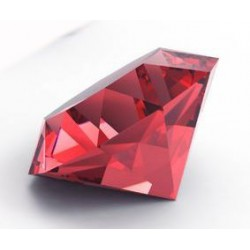 Sticker diamant ruby rouge