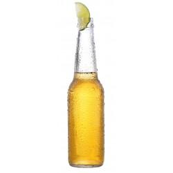 Sticker bière blonde bouteille citron