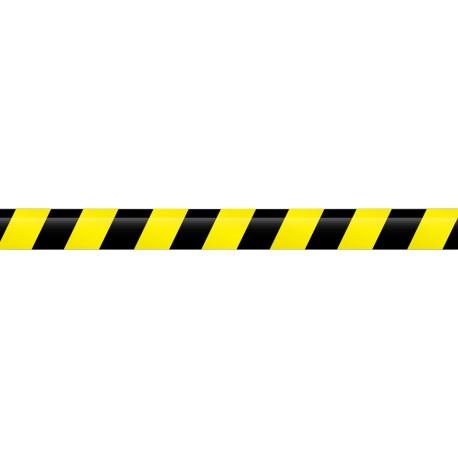 sticker frise bande noir jaune petit prix etiquette autocollant. Black Bedroom Furniture Sets. Home Design Ideas