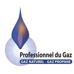 Sticker Professionnel du GAZ - gaz naturel propane