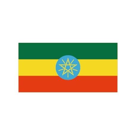 Sticker - Drapeau Ethiopie REFG814