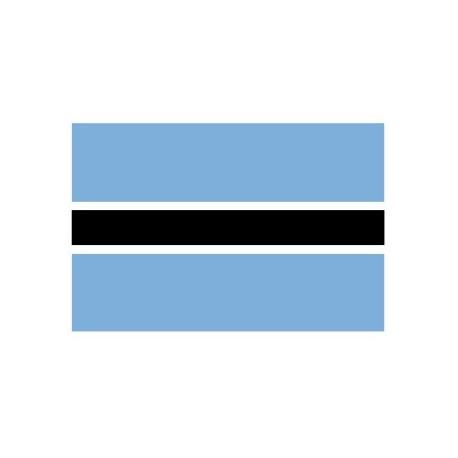 Sticker - Drapeau Botswana REFG836