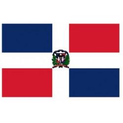 Sticker - Drapeau République Dominicaine REFG934