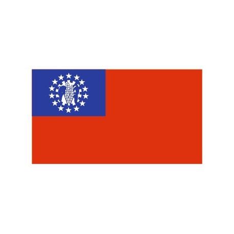 Sticker - Drapeau Myanmar REFG944