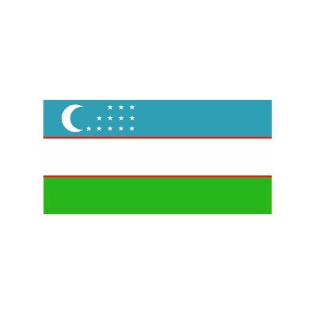 Sticker - Drapeau Ouzbekistan REFG907