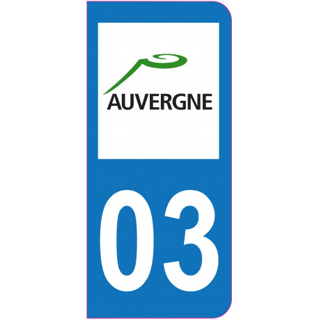 Sticker - Immatriculation -allier-3 - (REFG511)