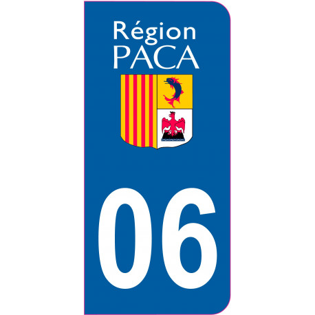Sticker - Immatriculation -Alpes Maritimes-06- (REFG514)