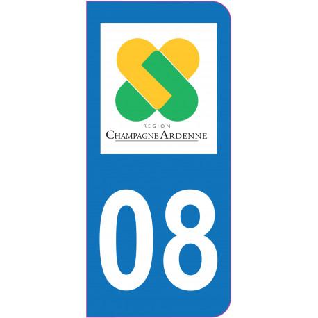 Sticker - Immatriculation -Ardennes-08 - (REFG516)