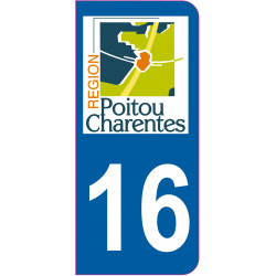 Sticker - Immatriculation -Charente-16 - (REFG524)