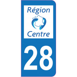 Sticker - Immatriculation -Eure et Loire-28 - (REFG535)