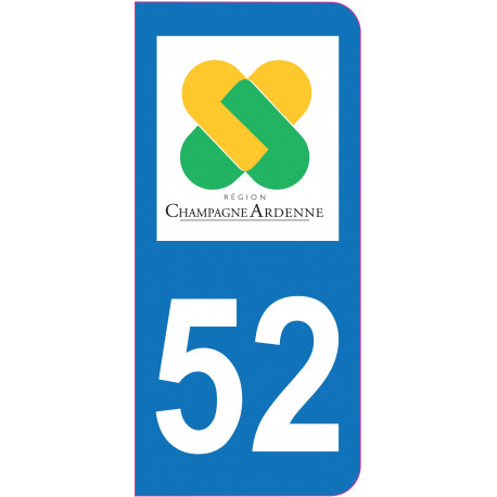 Sticker plaque immatriculation haute marne 52 for 52 haute marne