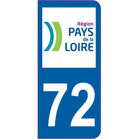 Sticker - Immatriculation -Sarthe-72 - (REFG581)