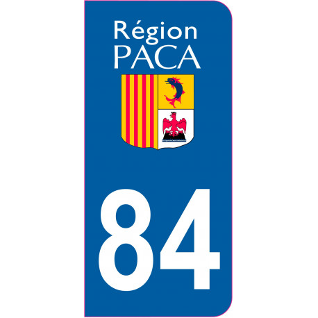 Sticker - Immatriculation -Vaucluse-84 - (REFG593)