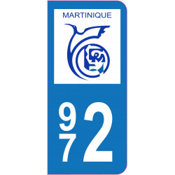 Sticker - Immatriculation -Martinique-972- (REFG606)