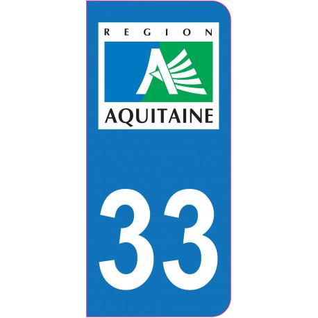 Sticker - Immatriculation -Gironde-33 - (REFG542)