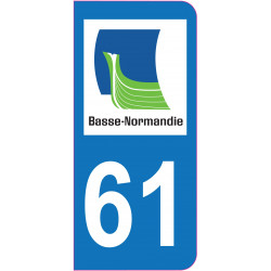 Sticker - Immatriculation -Orne-61 - (REFG570)