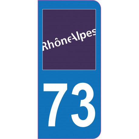 Sticker - Immatriculation -Savoie-73 - (REFG582)