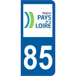 Sticker - Immatriculation -Vendee-85 - (REFG594)