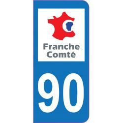 Sticker - Immatriculation -Territoire de Belfort-90 - (REFG599)