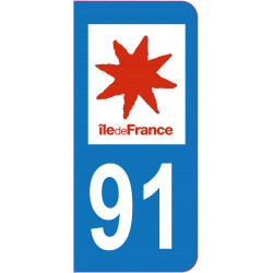 Sticker - Immatriculation -Essonne-91 - (REFG600)