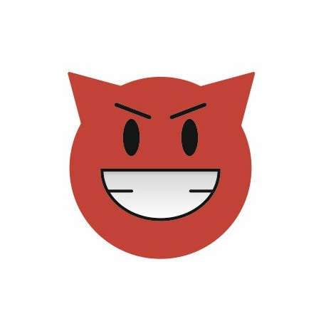 Sticker - Smile diable REFG100