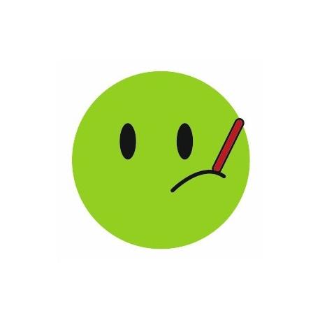 Sticker - Smiley malade REFG135