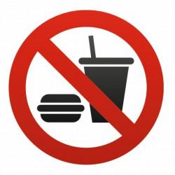 Sticker - Interdit de boire et manger REFH300
