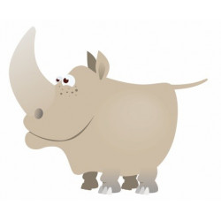 Sticker Rhinocéros