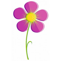 Sticker - Fleur violette REFH244