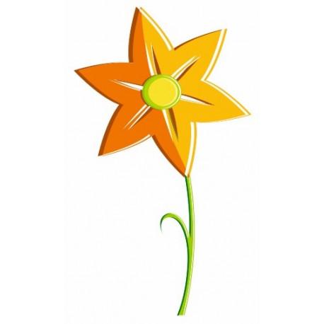 Sticker - Fleur orange REFH245