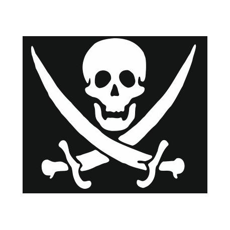 Sticker - Tête de mort REFH248
