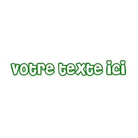 Sticker - Texte Coeur REFG661