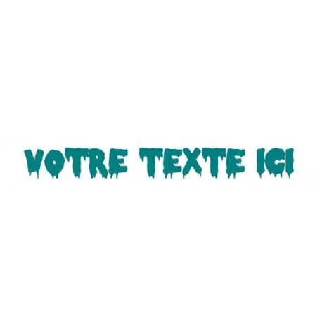 Sticker - Texte Peur REFG665