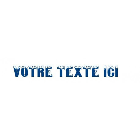 Sticker - Texte froid galcial REFG679