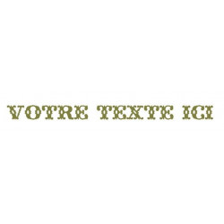Sticker - Texte Cow Boy REFG682