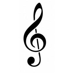 Autocollant musique Clef de Sol Note