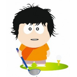 Sticker joueur de Golf golfeur