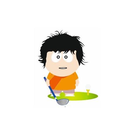 Sticker - Joueur de Golf (REFH715