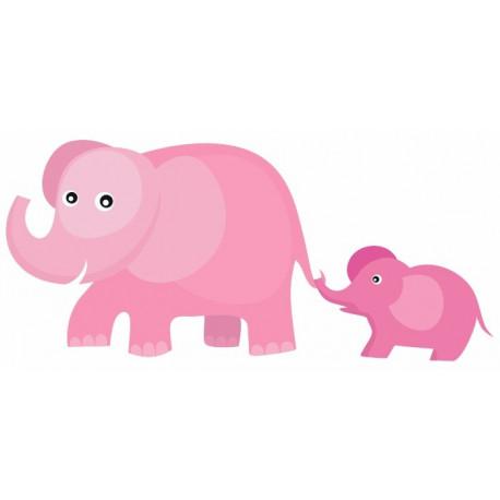 Sticker - Animaux Famille Eléphant (REFH739